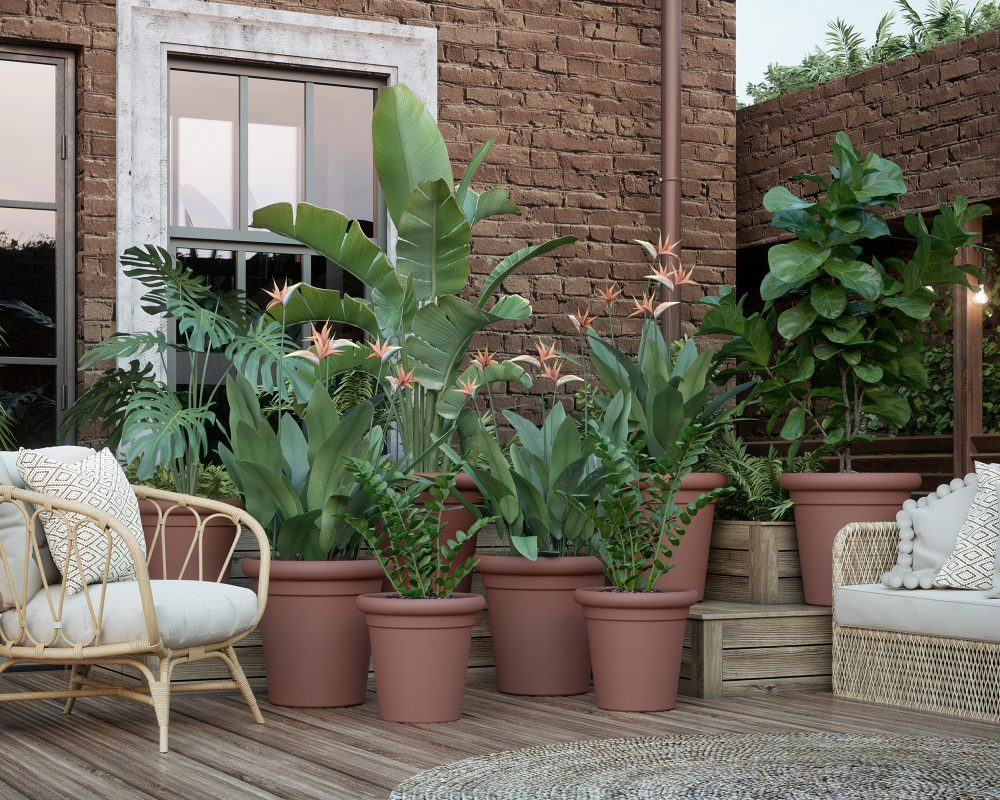 plastic-pot-recyclable-recycled-planter-terracotta-orange-eco-friendly
